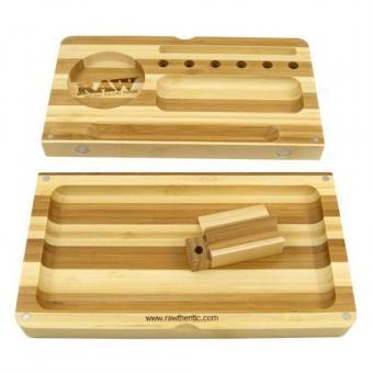 RAW Bamboo Flip Tray Striped